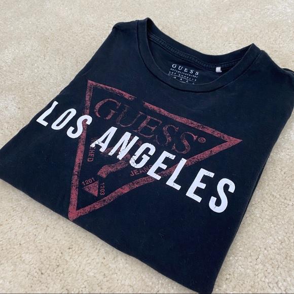 Guess Los Angeles Mens Black T-Shirt Size S